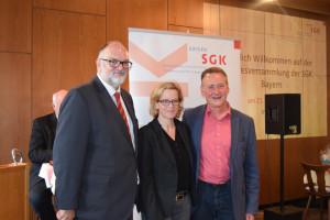 Jürgen Dupper, Natascha Kohnen (Vorsitzende BayernSPD) und Dr. Thomas Jung
