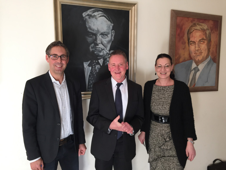 Grundsteuergespräch Michael Schrodi, Dr. Thomas Jung, Claudia Tausend